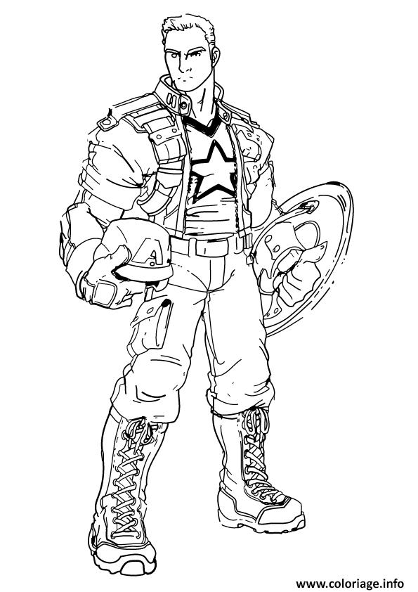 Coloriage Captain America Imprimer Gratuit.Coloriage A Imprimer Captain America Laborde Yves