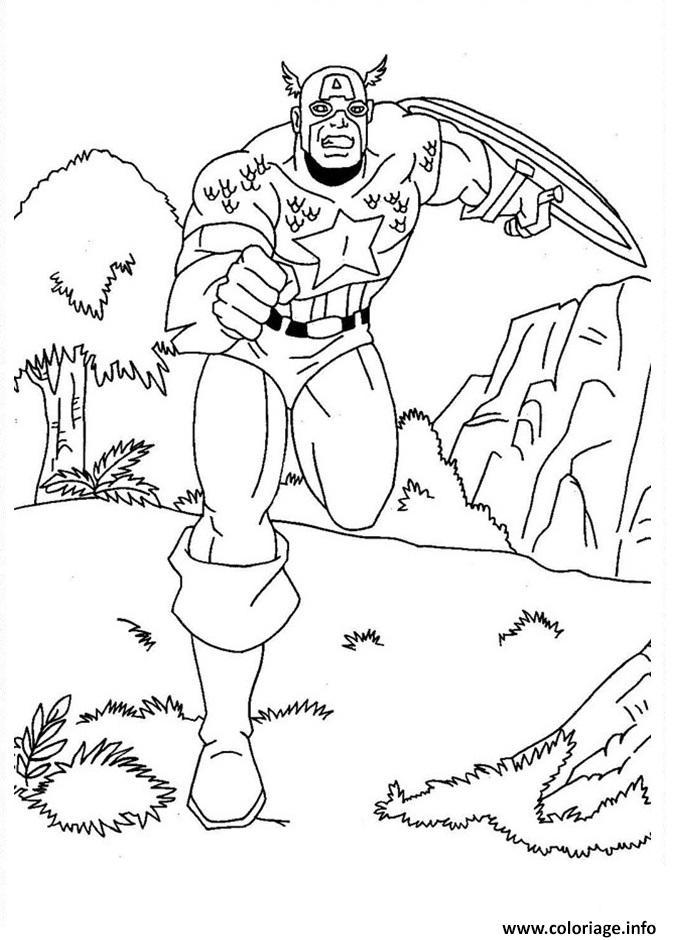 Coloriage colorier captain america 166 dessin - Jeux de captain america gratuit ...