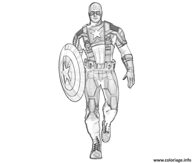 Coloriage colorier captain america 307 dessin - Dessin captain america ...