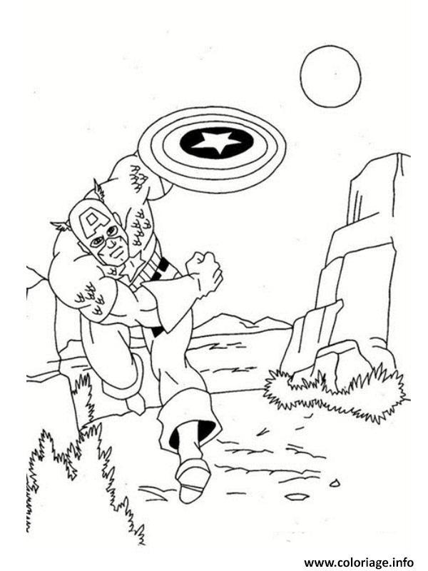 Coloriage colorier captain america 182 dessin - Jeux de captain america gratuit ...