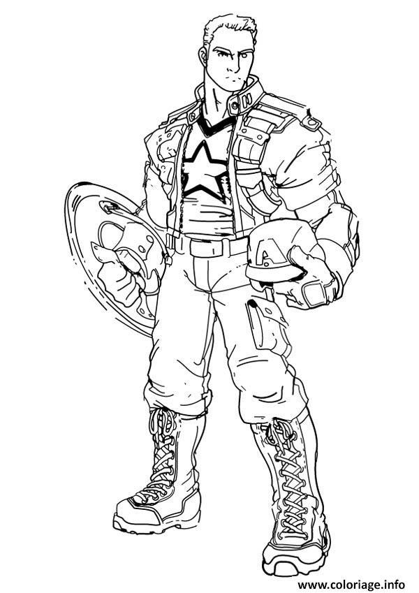 Coloriage colorier captain america 82 - Dessin captain america ...