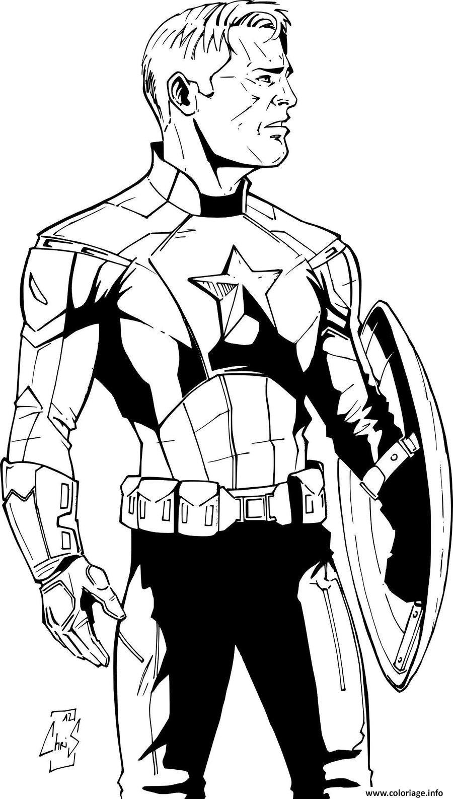 Coloriage colorier captain america 175 dessin - Coloriage avengers a imprimer gratuit ...