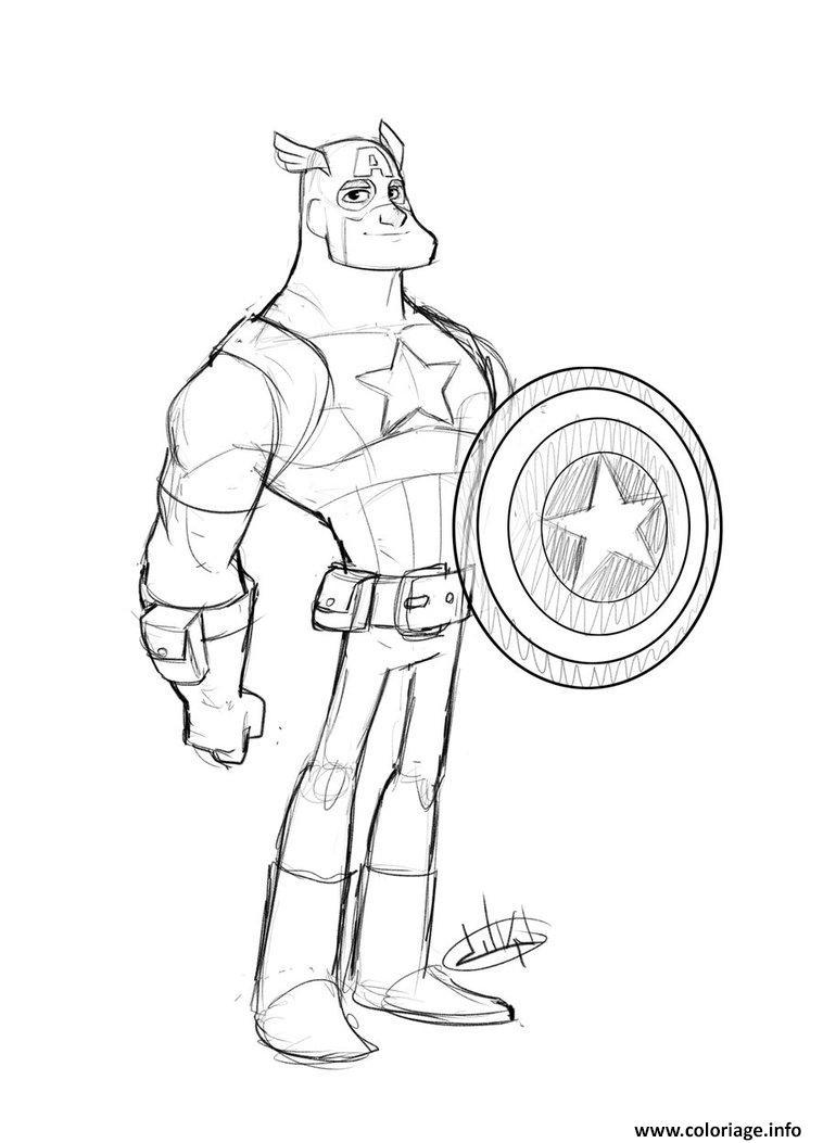 Coloriage Colorier Captain America 196 dessin