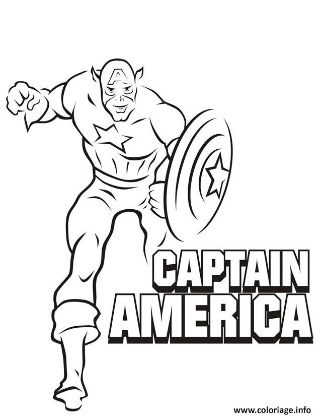 Coloriage colorier captain america 33 dessin - Captain america coloriage ...