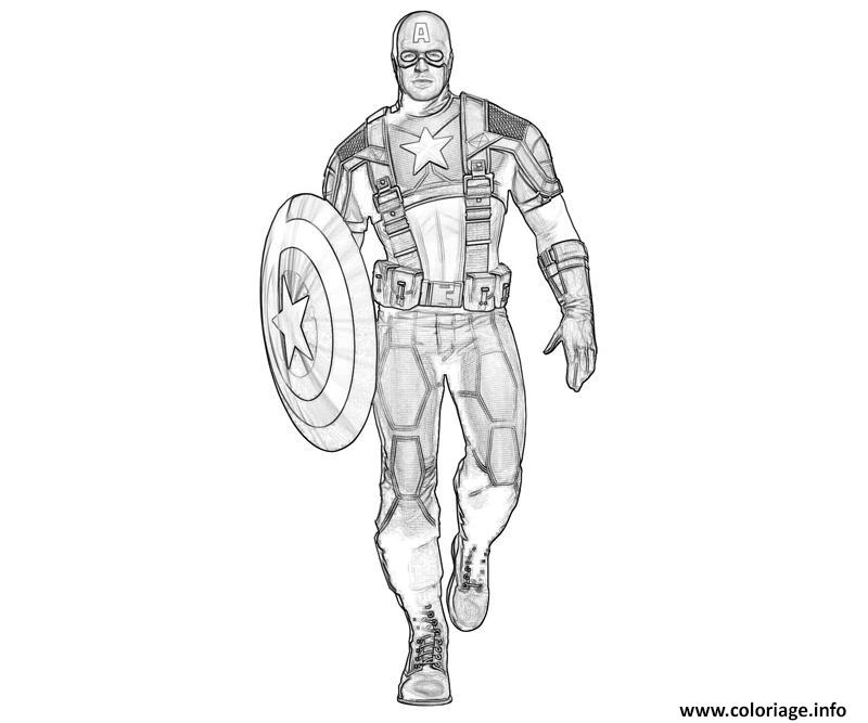 Coloriage Captain America Civil War.Coloriage Captain America A Imprimer