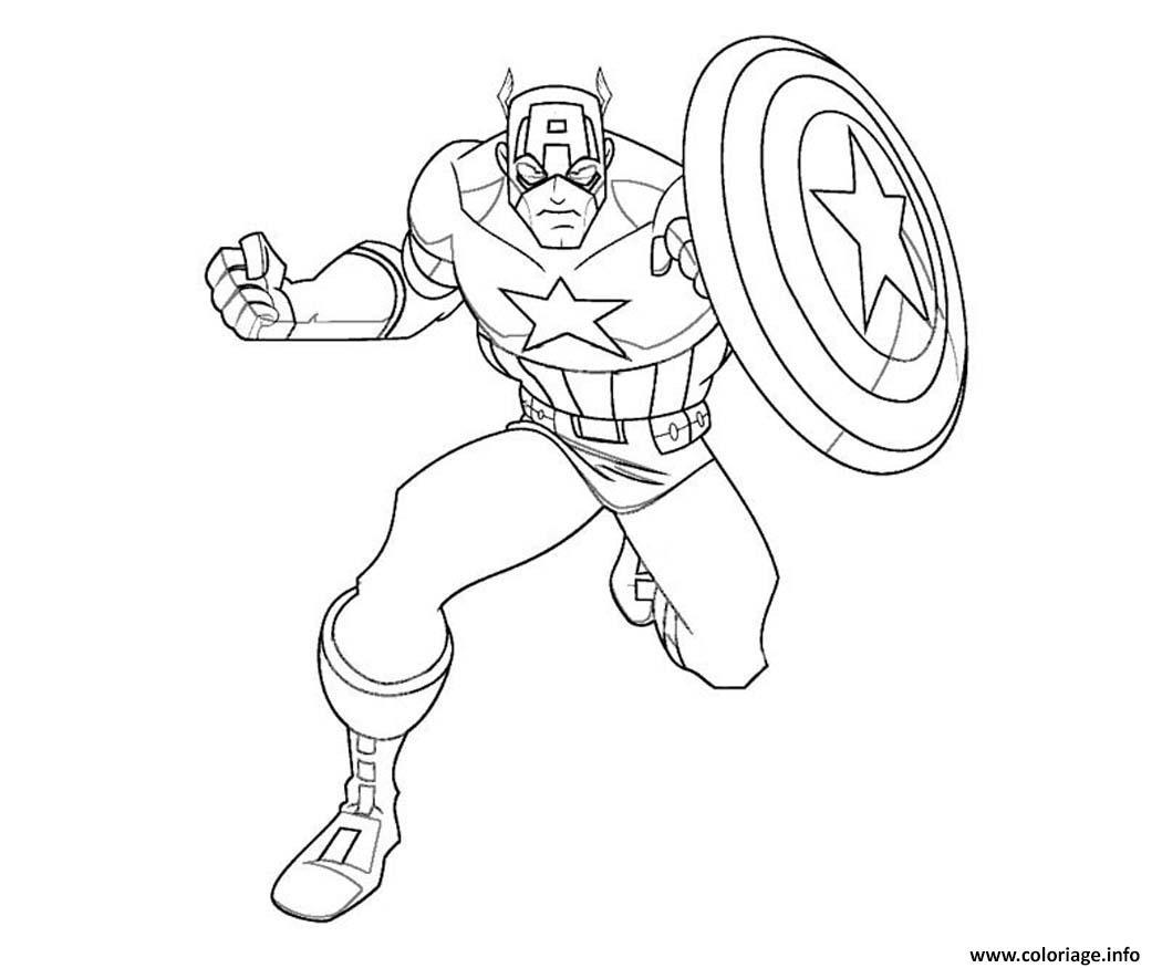 Coloriage Colorier Captain America 1 Dessin