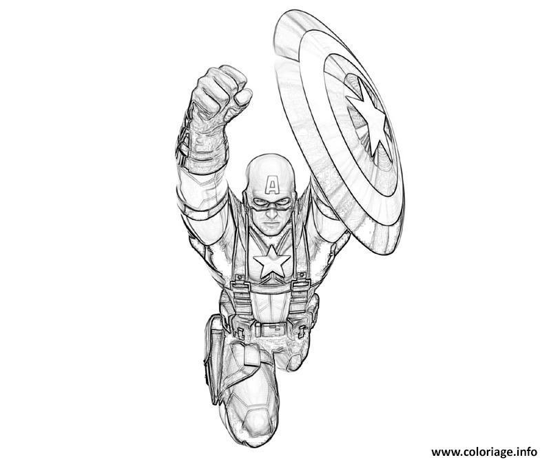 Coloriage colorier captain america 129 dessin - Dessin captain america ...