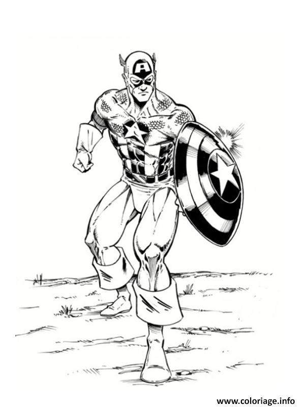 Coloriage colorier captain america 84 dessin - Jeux de captain america gratuit ...