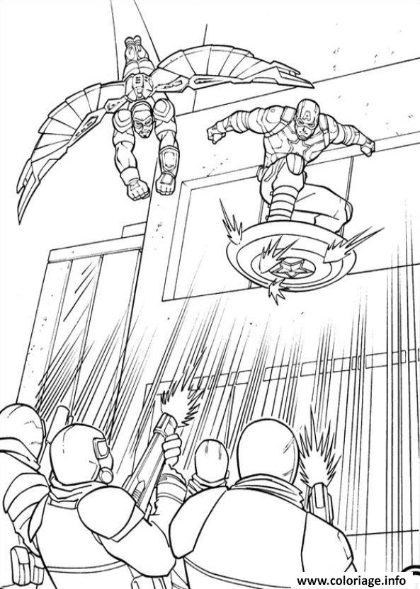 Captain America Civil War Antman Coloring Page