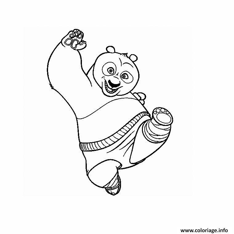 Dessin kung fu panda po Coloriage Gratuit à Imprimer