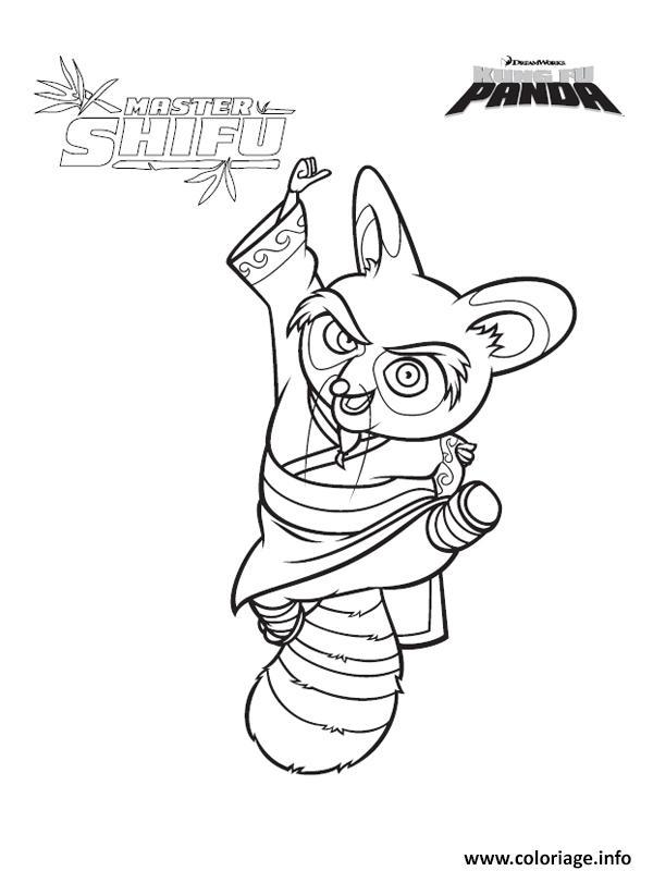 Coloriage maitre shifu kung fu panda - Maitre kung fu panda ...