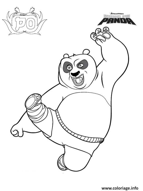 Coloriage Po Dans Kung Fu Panda 1 Jecolorie Com