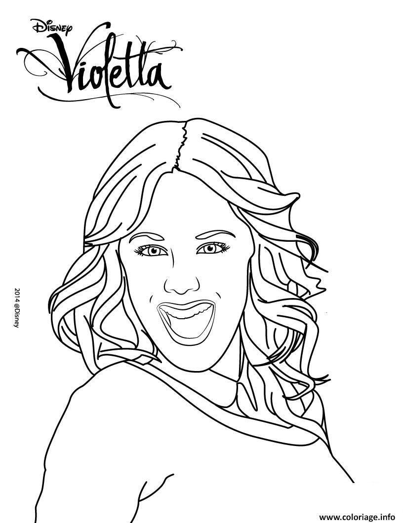 Dessin portrait de violetta Coloriage Gratuit à Imprimer