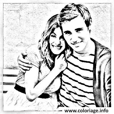 coloriage violetta et petit copain dessin imprimer - Coloriage Violetta