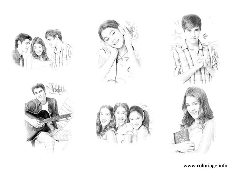 coloriage personnages violetta tomas leon maxi andrew