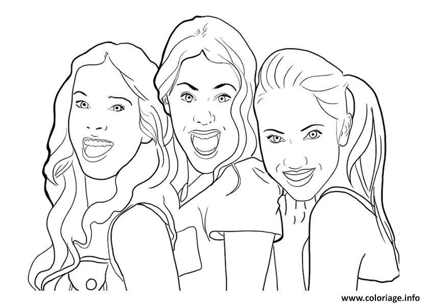 Coloriage violetta et ses copines dessin - Image de violetta et ses amies ...