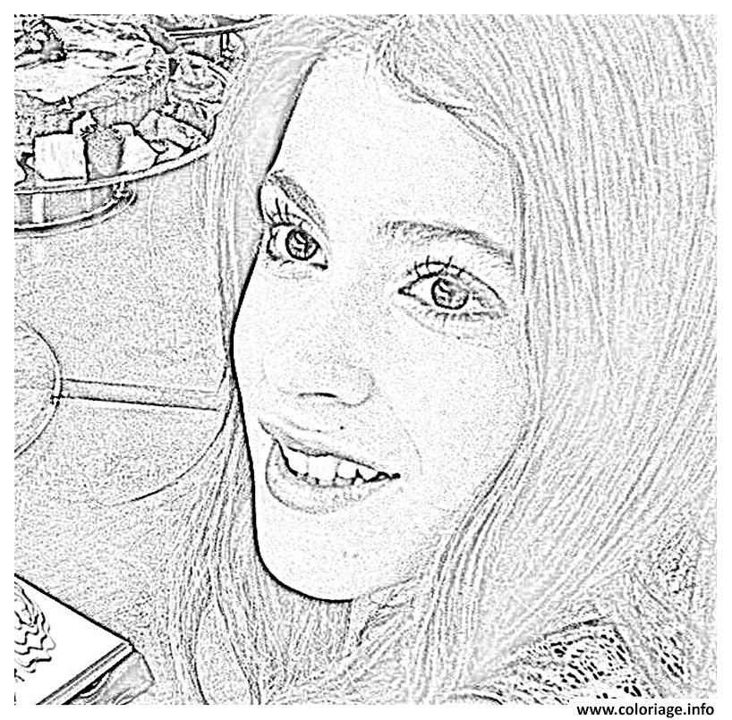 Dessin violetta visage angelique chanteuse Coloriage Gratuit à Imprimer