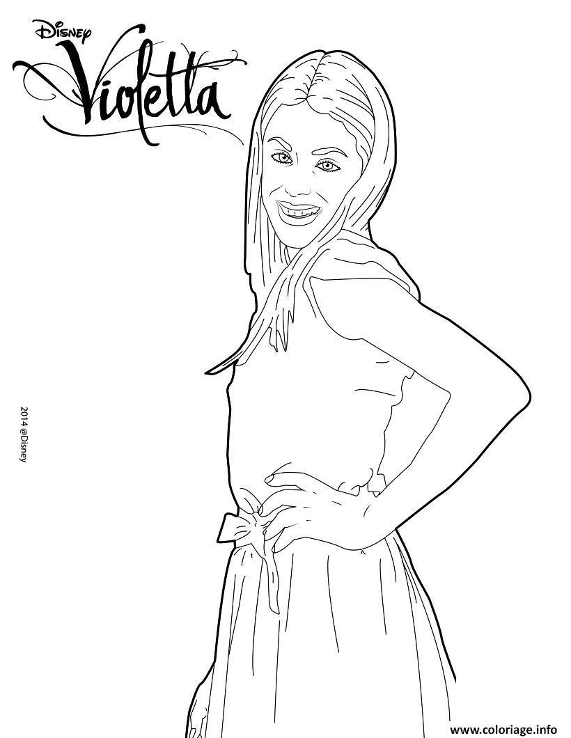 Dessin violetta pose mannequin top model Coloriage Gratuit à Imprimer