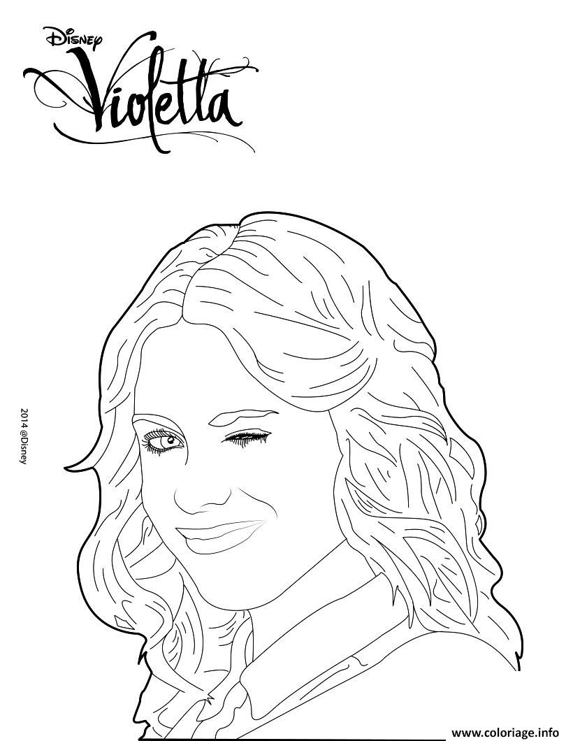 Coloriage Violetta Fait Clin Doeil dessin