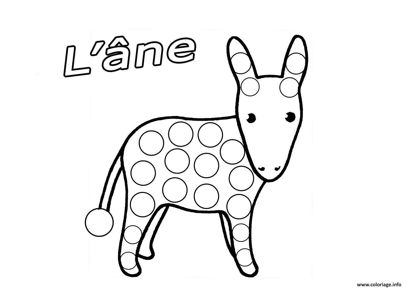 Coloriage petit ane dessin - Dessin ane facile ...