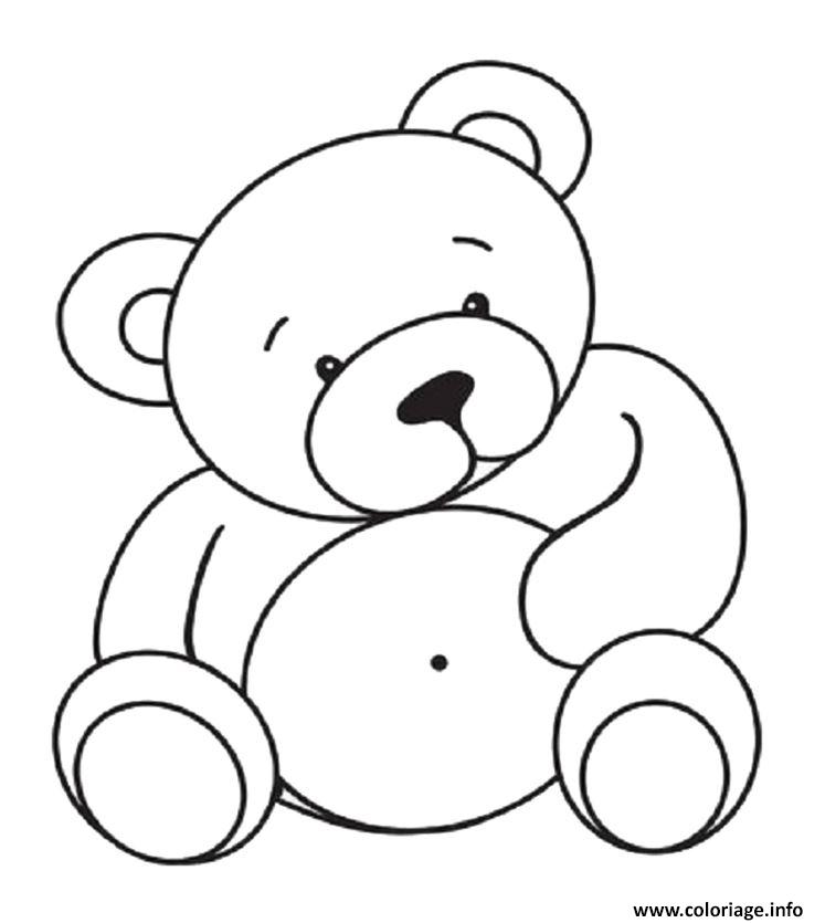 coloriage gros nounours dessin. Black Bedroom Furniture Sets. Home Design Ideas