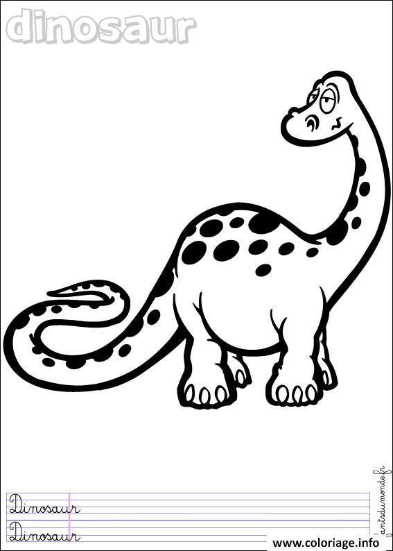 Dessin dinosaure 119 Coloriage Gratuit à Imprimer