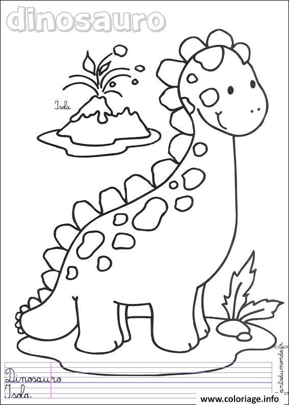 Coloriage dinosaure 127 dessin - Dinosaures coloriage ...