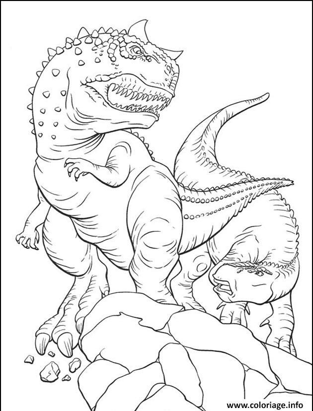 Dessin dinosaure 100 Coloriage Gratuit à Imprimer