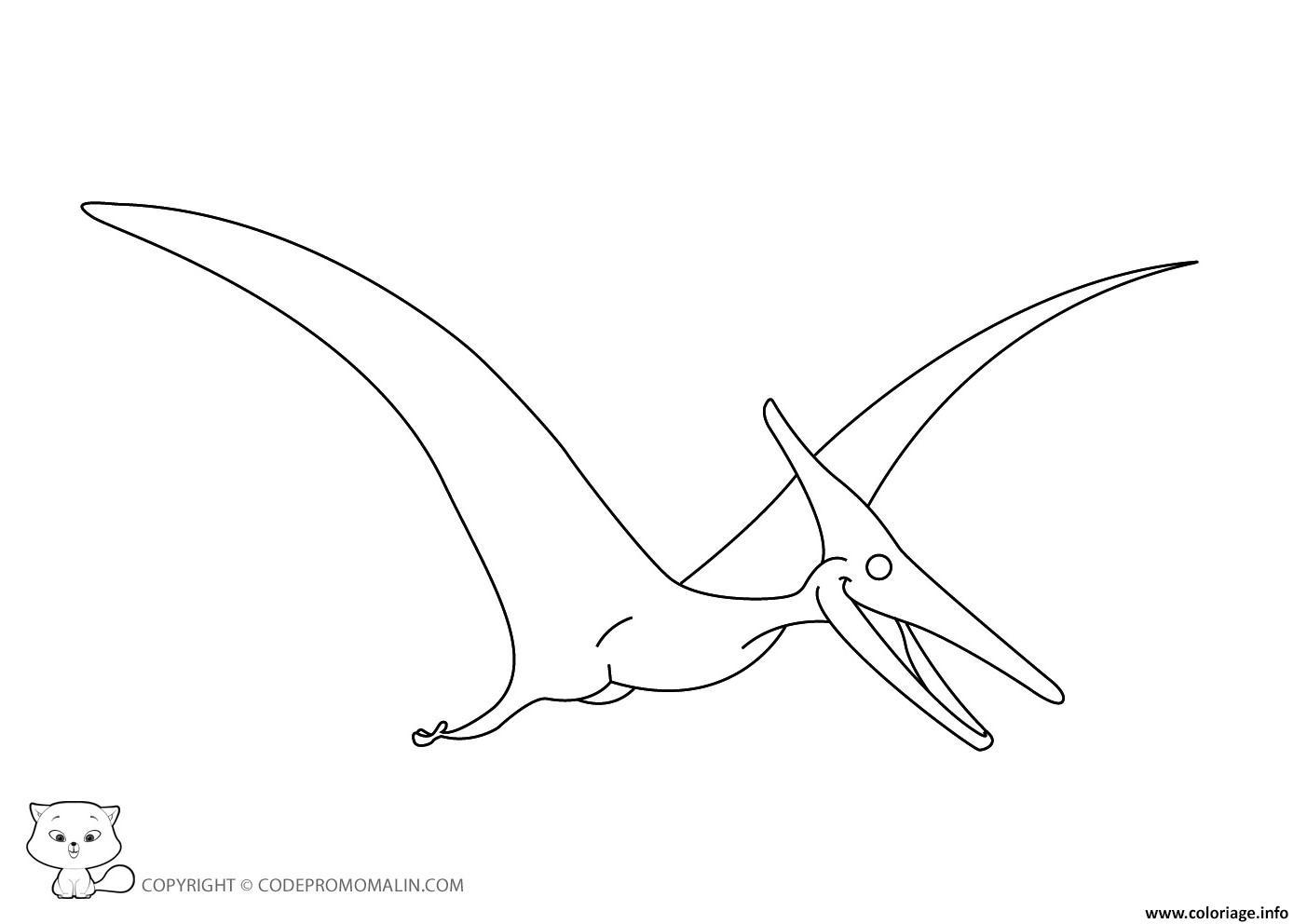 Coloriage dinosaure 147 dessin - Dinosaur volant ...