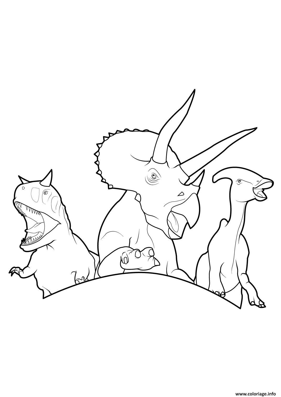 Coloriage Dinosaure 363 dessin