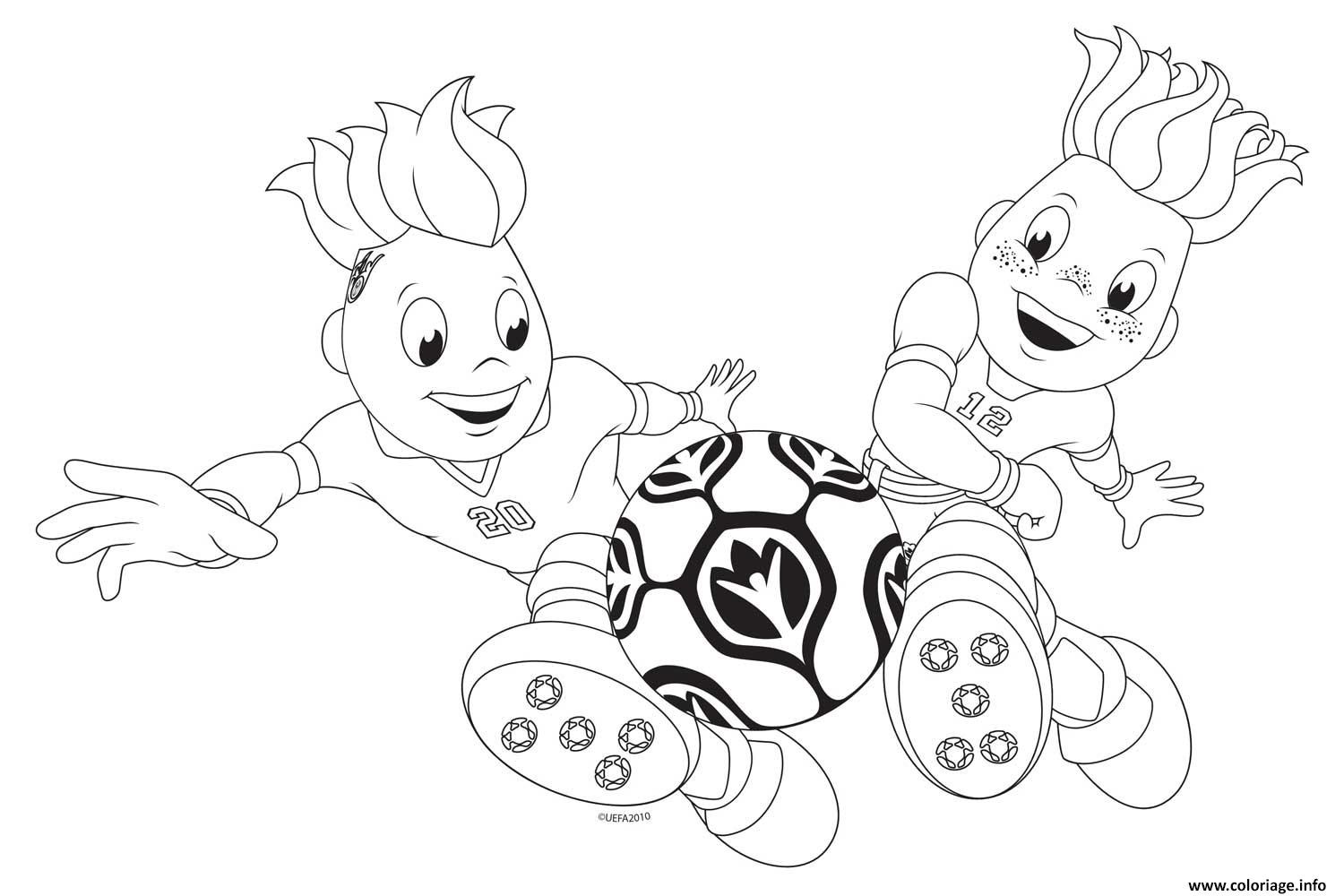 Coloriage euro 2016 foot dessin - Coloriage de foot ...