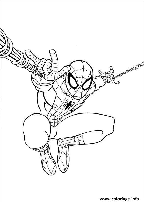 Coloriage Ultimate Spiderman Jump Dessin à Imprimer
