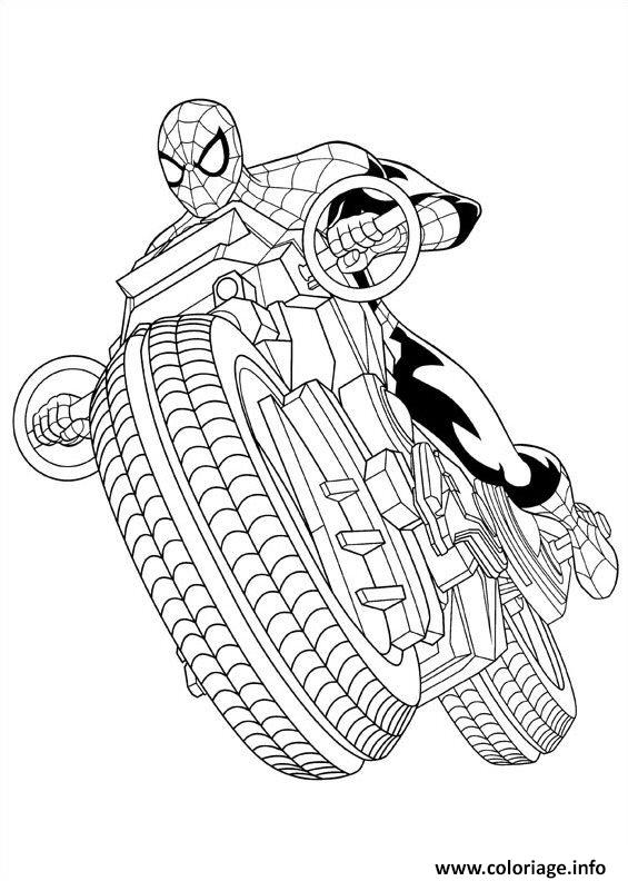 Coloriage ultimate spiderman spider