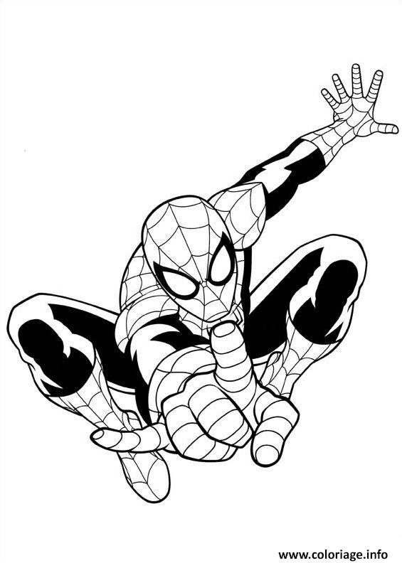 Coloriage Ultimate Spiderman Dessin à Imprimer