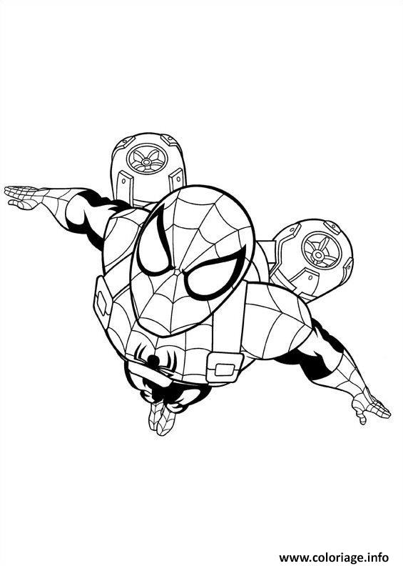 Coloriage Ultimate Spider Man 2 Dessin à Imprimer
