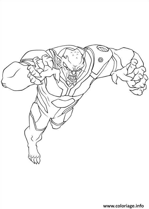 Coloriage Ultimate Spiderman Green Goblin Dessin à Imprimer
