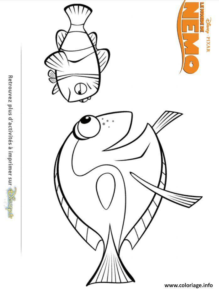 Coloriage dory et nemo dessin - Doris et nemo ...