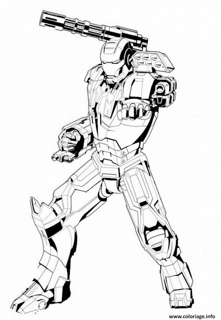 Coloriage iron man 71 dessin - Dessin armure ...