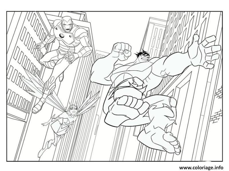 Coloriage iron man avec hulk dessin - Coloriage spiderman et hulk ...