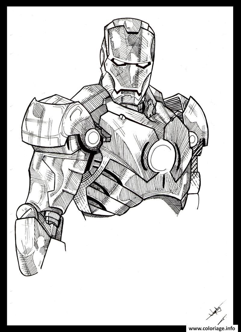Coloriage iron man 39 dessin - Coloriage de iron man ...