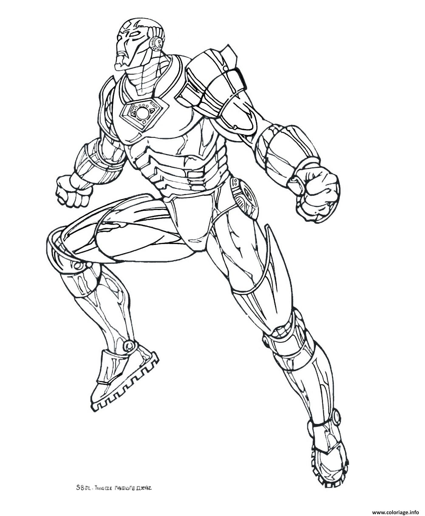iron man 8 coloriage dessin