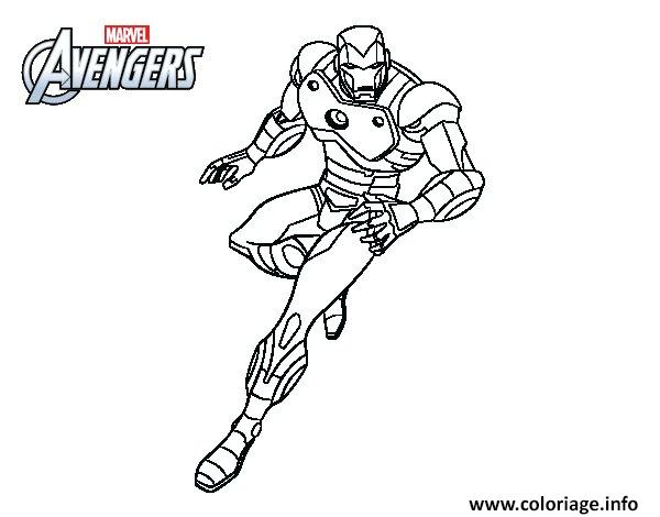Coloriage Iron Man Avengers Dessin