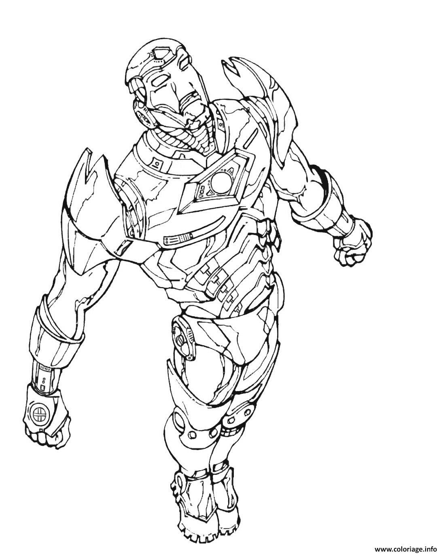 Coloriage iron man 18 - JeColorie.com