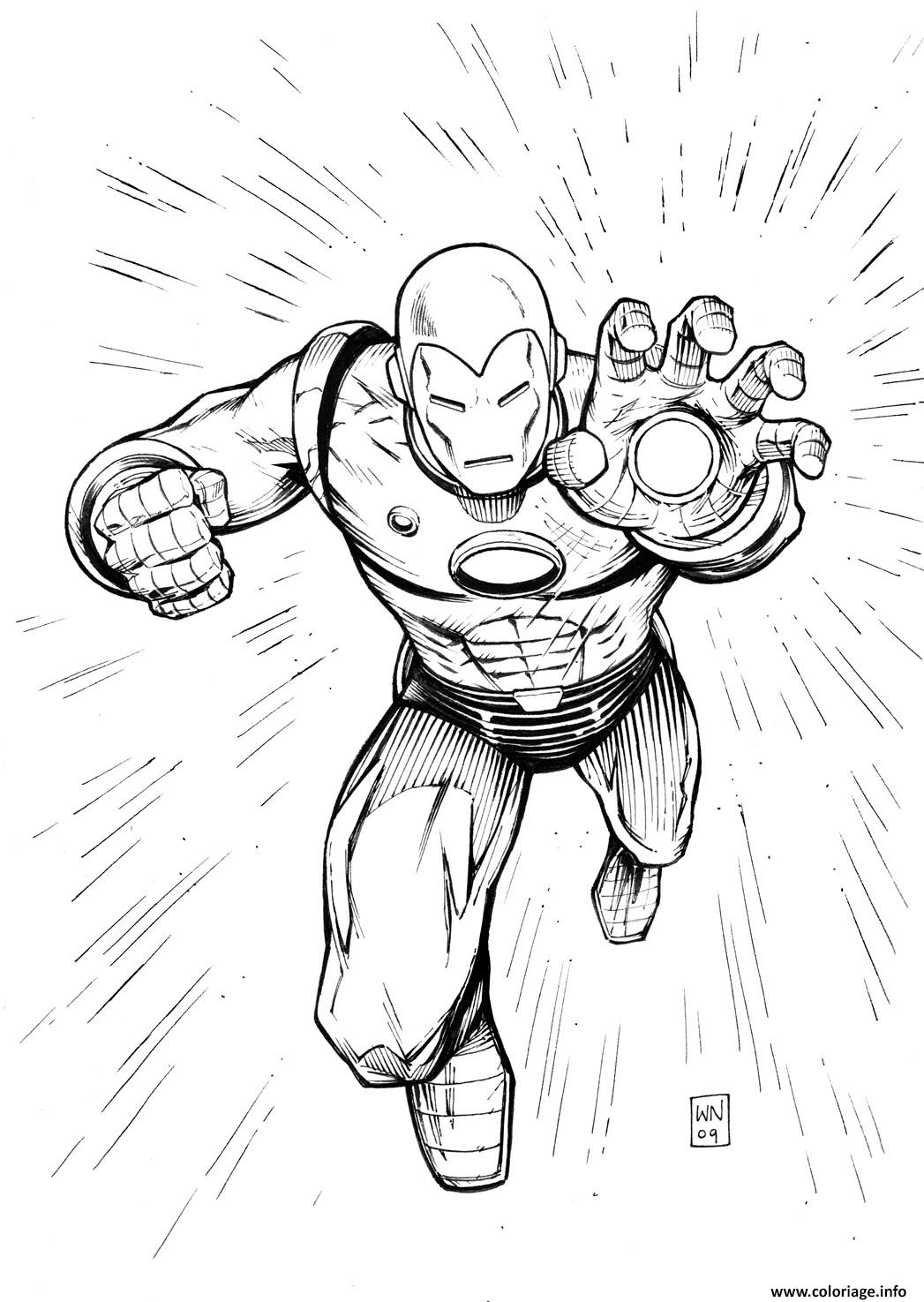 Coloriage iron man 29 - Coloriage ironman ...