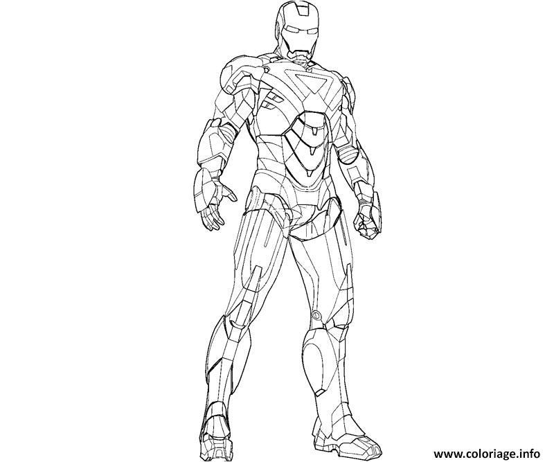 Coloriage Iron Man 85 Dessin Iron Man à imprimer