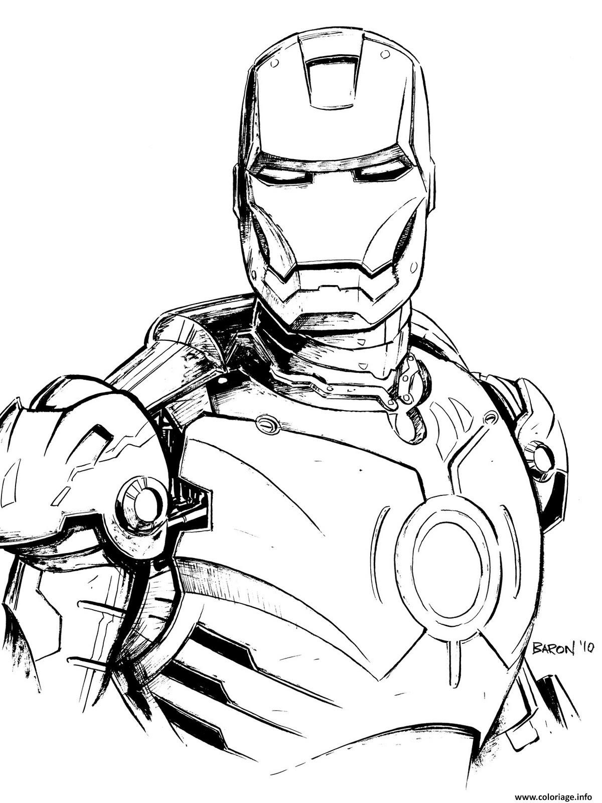 Coloriage iron man 4 dessin - Coloriage ironman ...