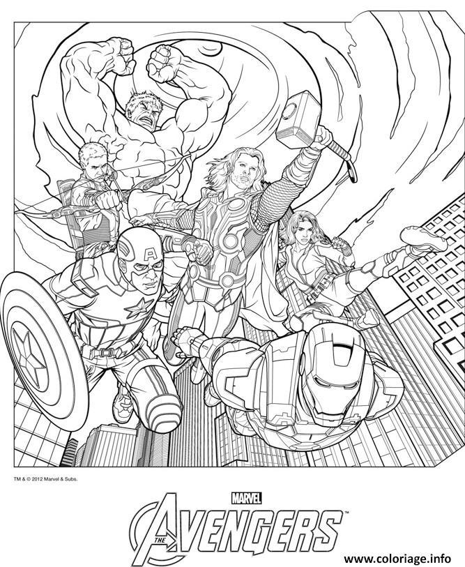 coloriage avengers 15 dessin imprimer - Dessin Avengers