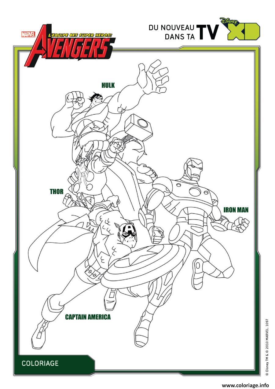Dessin avengers 95 Coloriage Gratuit à Imprimer