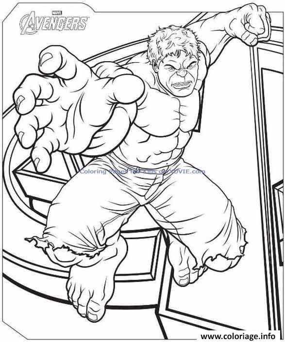 Coloriage avengers incroyable hulk dessin - Coloriage hulk ...