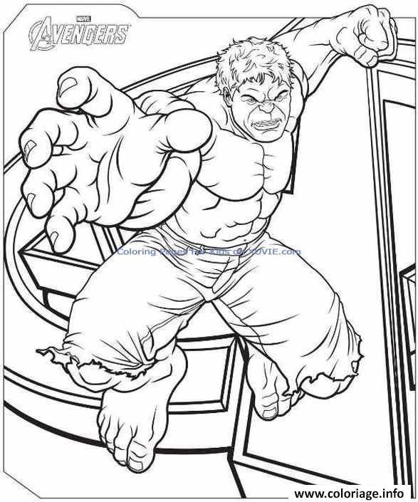 Coloriage Avengers Incroyable Hulk Dessin